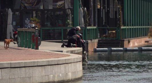 Milano, cane cade in acqua in Darsena: lo salvano 2 carabinieri