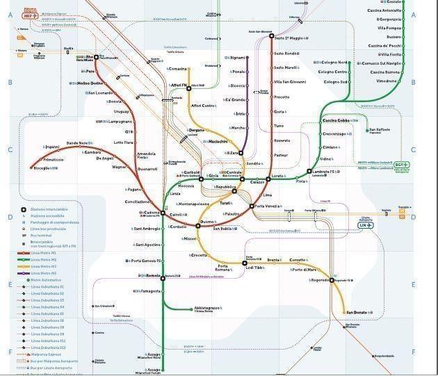 Mappa delle metropolitane milanesi la novit da un for Mappa della costruzione di casa