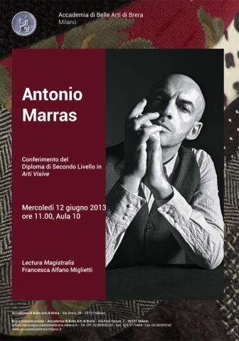 Antonio marras laurea honoris causa dall 39 accademia di brera for Belle arti milano brera