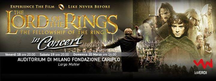Lord of the Rings in concert, a Milano il 18, 19 e 20 marzo 2016