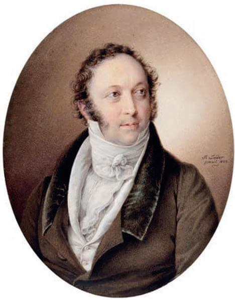 gioacchino rossini by friedrich lieder 1822