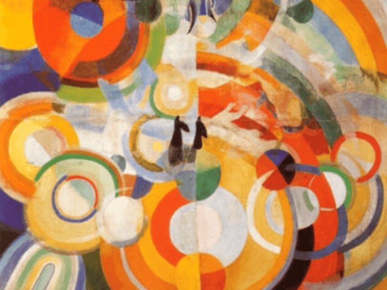 robert delaunay carousel with pigs